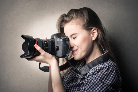 picture person: Professional photographer Stock Photo