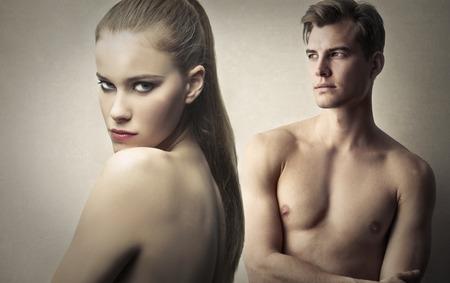 naked blonde: Naked couple