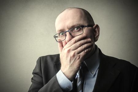 gaffe: Businessman regretting something