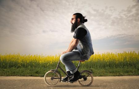 bicyclette: Bizarre moyen des transports Banque d'images