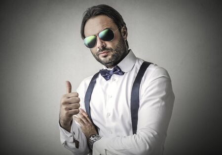 Cool guy with thumbs up