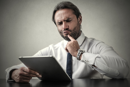 Undecided businessman photo