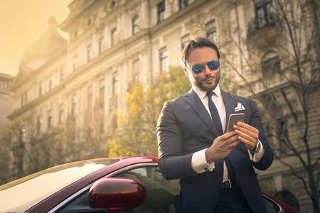 rich: Rich businessman Stock Photo