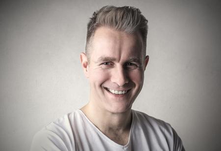 Happy mans portrait 写真素材