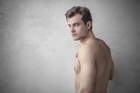 homme nu: Homme debout, nu