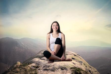 womna: In meditation Stock Photo