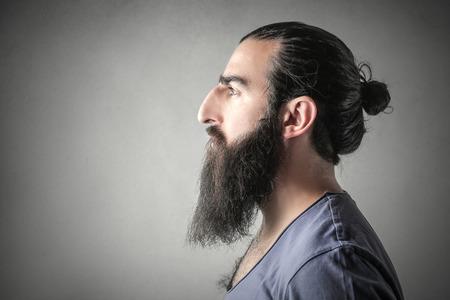 Longbearded man