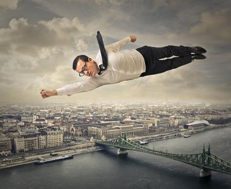 Flying Mann  Lizenzfreie Bilder