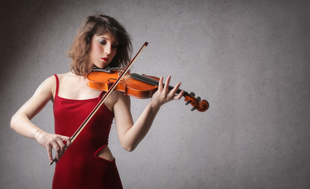 passion play: Violinist playing Stock Photo