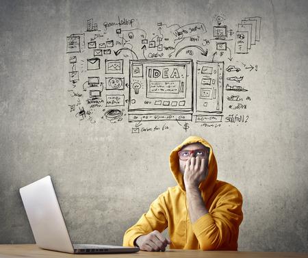 Creative werknemer Stockfoto