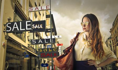Vrouw gaan winkelen