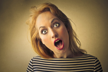stupor: Shocked woman