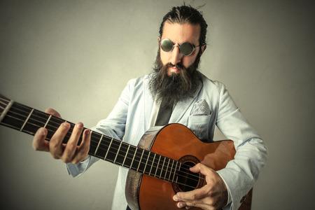 Weird guitarist