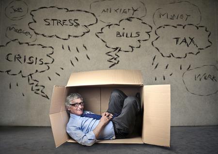 Hiding businessman photo