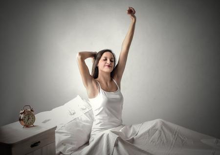 despertarse: Despierta tiempo Foto de archivo