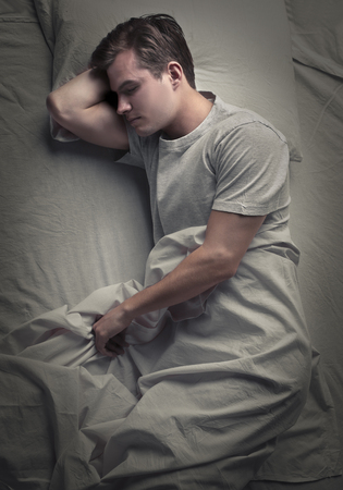dream body: Sleeping man