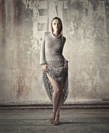 undress: Girl wearing fashionable clothes