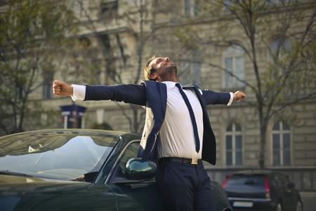 exult: Successful businessman