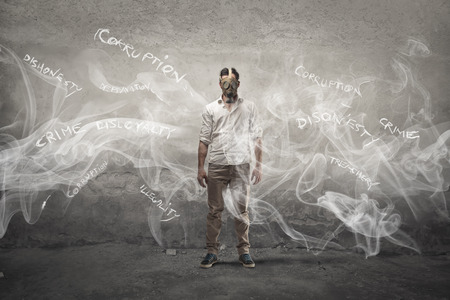 illegality: Gas mask Stock Photo