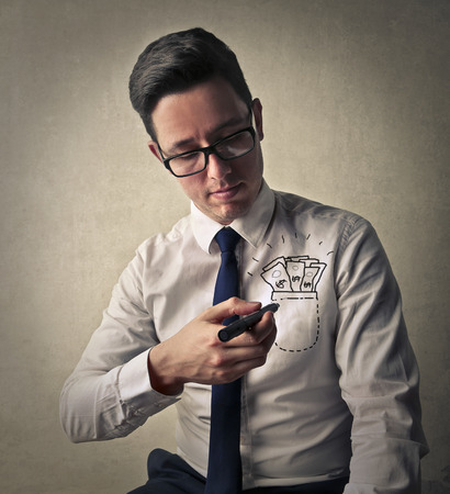 ambitious: Ambitious businessman Stock Photo