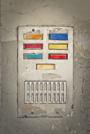 interphone: Picture of a colorful interphone