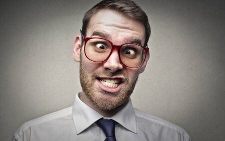 ironic: Crazy businessman