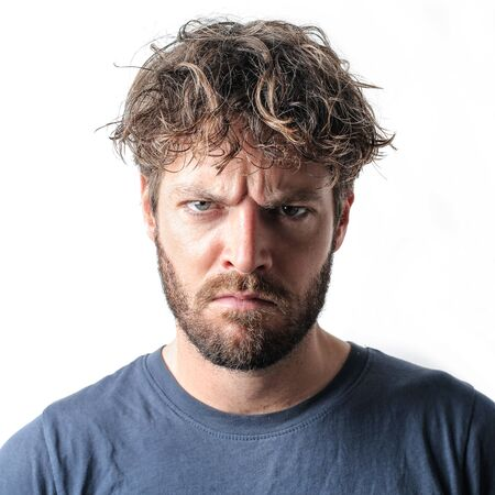 Angry man Archivio Fotografico