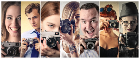 tattoo face: Professional photographers Stock Photo