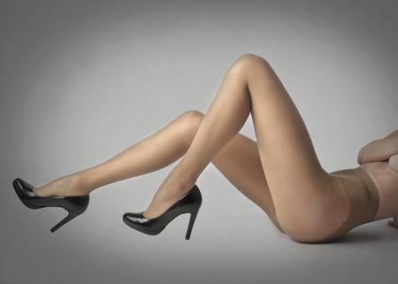 tights: Woman Sensual legs Stock Photo