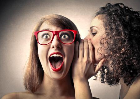 ganador: Mujer dice Secretos y su amiga sorpresa Foto de archivo