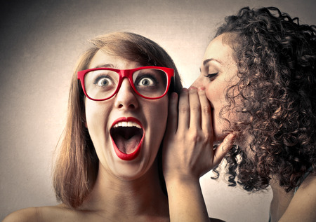 astonishment: Woman tell Secrets and her friend surprise