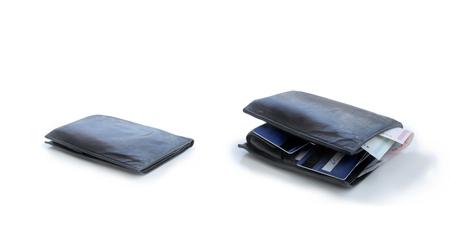 swollen: Flat wallet and full wallet