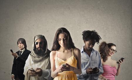 Connexions multiculturelles Banque d'images