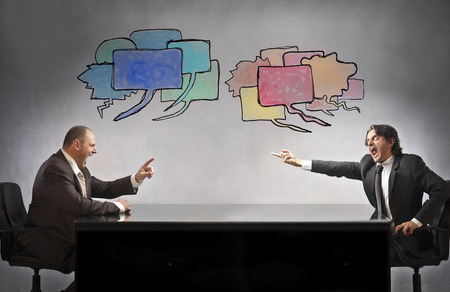 Businessmen arguing about something Stock Photo
