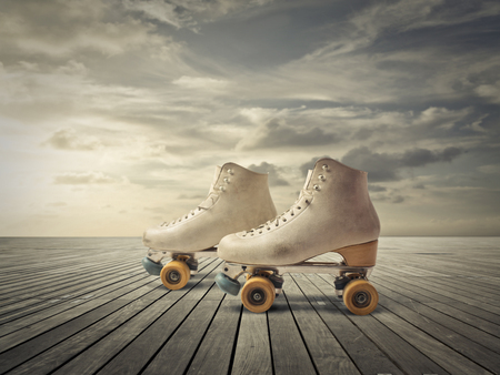roller skate: a pair of skaters