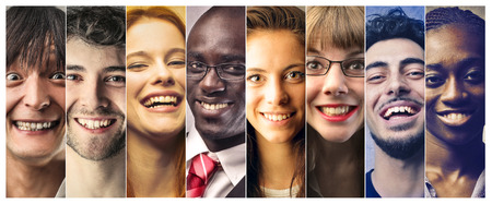 work: Smiling people Stock Photo