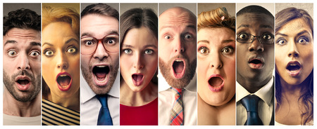 astonishment: Shocked people