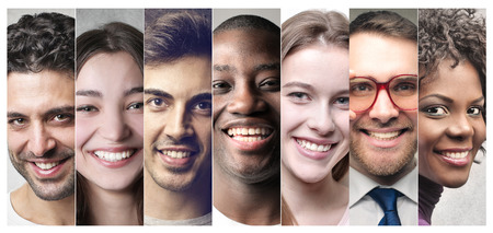 composition: Smiling people Stock Photo