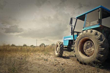 old tractors: Tractor in the countryside