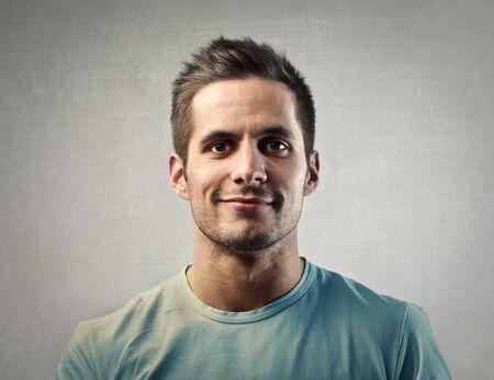 portrait man: Smiling mans portrait