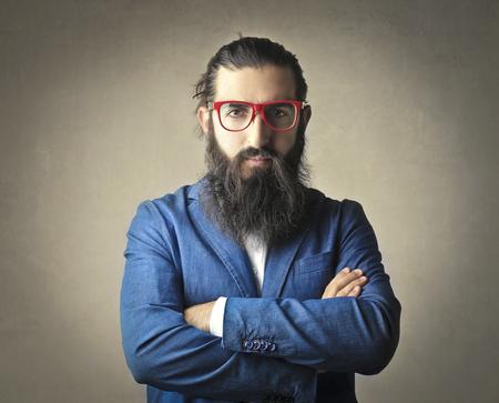 hairy: Long-bearded mans portrait