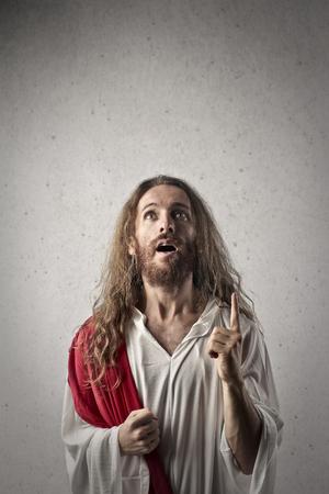 jesus face: Enlightened Jesus Stock Photo