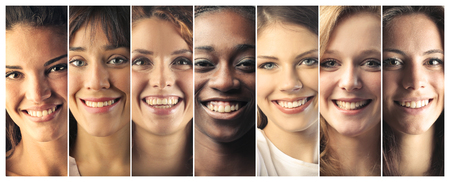 happy faces: Smiling people Stock Photo