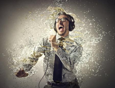 zakenman zingen Stockfoto