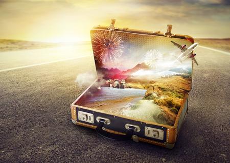 maleta: Maleta de sus sueños Foto de archivo