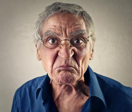 desprecio: Disgusted man Foto de archivo