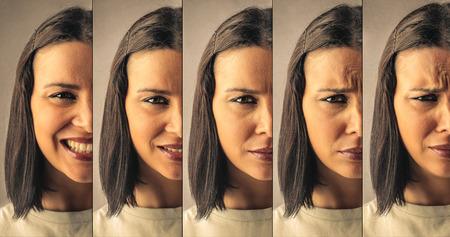 emociones: Diferentes expresiones Foto de archivo