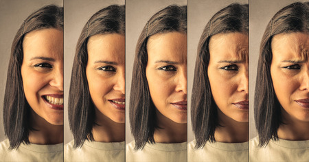 feeling: Different expressions Stock Photo
