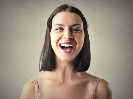 laugh: Laughing woman Stock Photo