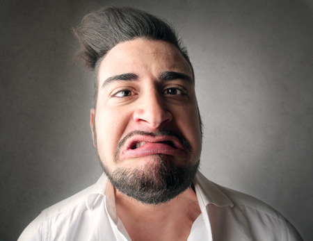 disgusted: Disgusted man Stock Photo